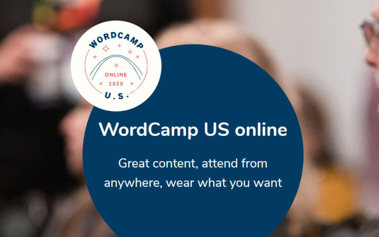 WordCamp US 2020 goes online